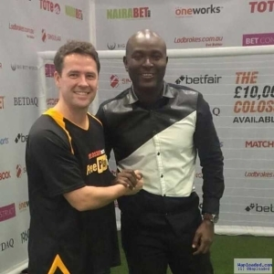 Photo: Akin Alabi Of Nairabet Spotted With Micheal Owen